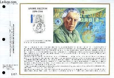FEUILLET ARTISTIQUE PHILATELIQUE - CEF - N° 1027 - ANDRE BRETON 1896-1966