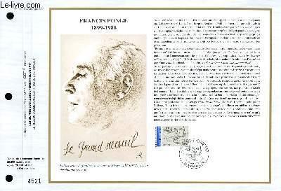 FEUILLET ARTISTIQUE PHILATELIQUE - CEF - N° 1029 - FRANCIS PONGE 1899-1988