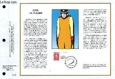 FEUILLET ARTISTIQUE PHILATELIQUE - CEF - N° 1033 - LUGE LA PLAGNE
