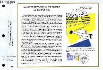 FEUILLET ARTISTIQUE PHILATELIQUE - CEF - N° 1034 - JOURNEE NATIONALE DU TIMBRE LE TRI POSTAL