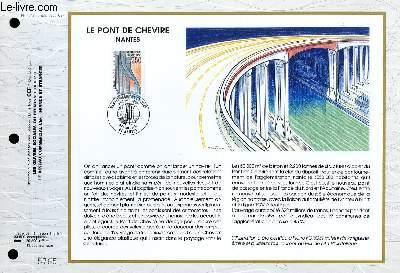 FEUILLET ARTISTIQUE PHILATELIQUE - CEF - N° 1042 - LE PONT DE CHEVRE - NANTES