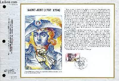 FEUILLET ARTISTIQUE PHILATELIQUE - CEF - N° 1045 - SAINT-JUST (1767-1794)