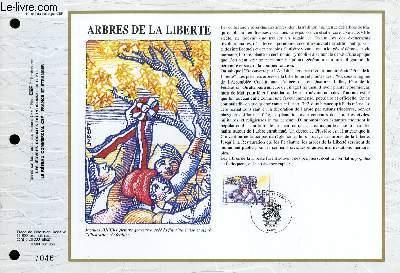 FEUILLET ARTISTIQUE PHILATELIQUE - CEF - N° 1047 - ARBRES DE LA LIBERTE