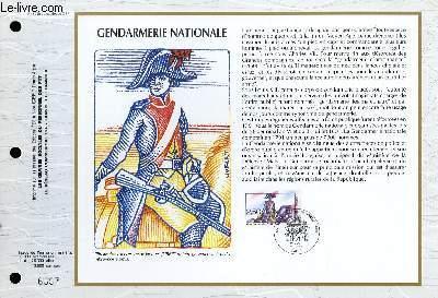FEUILLET ARTISTIQUE PHILATELIQUE - CEF - N° 1048 - GENDARMERIE NATIONALE