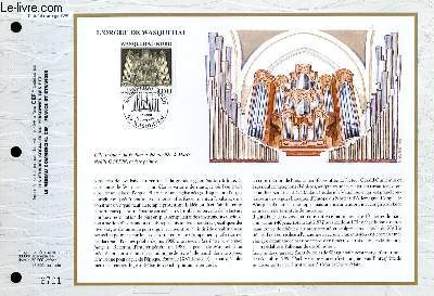 FEUILLET ARTISTIQUE PHILATELIQUE - CEF - N° 1049 - L'ORGUE DE WASQUEHAL
