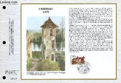 FEUILLET ARTISTIQUE PHILATELIQUE - CEF - N° 1051 - CARENNAC (LOT)