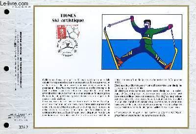 FEUILLET ARTISTIQUE PHILATELIQUE - CEF - N° 1053 - TIGNES SKI ARTISTIQUE