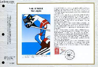 FEUILLET ARTISTIQUE PHILATELIQUE - CEF - N° 1054 - VAL D'ISERE - SKI ALPIN