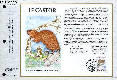 FEUILLET ARTISTIQUE PHILATELIQUE - CEF - N° 1058 - LE CASTOR