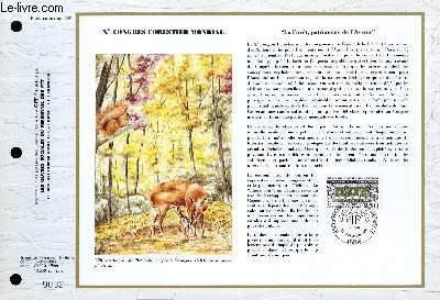 FEUILLET ARTISTIQUE PHILATELIQUE - CEF - N° 1060 - 10° CONGRES FORESTIER MONDIAL