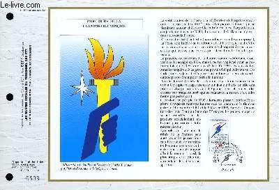 FEUILLET ARTISTIQUE PHILATELIQUE - CEF - N° 1068 - PARCOURS DE LA FLAMME OLYMPIQUE