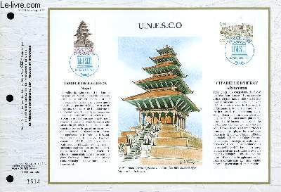 FEUILLET ARTISTIQUE PHILATELIQUE - CEF - N° 1069 - U.N.E.S.C.O.