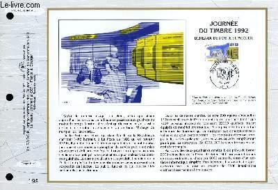 FEUILLET ARTISTIQUE PHILATELIQUE - CEF - N° 1075 - JOURNEE DU TIMBRE 1992 : BUREAUX DE POSTE : L'ACCUEIL