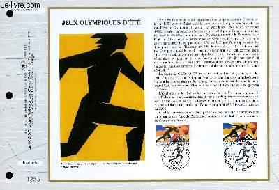 FEUILLET ARTISTIQUE PHILATELIQUE - CEF - N° 1076 - JEUX OLYMPIQUES D'ETE