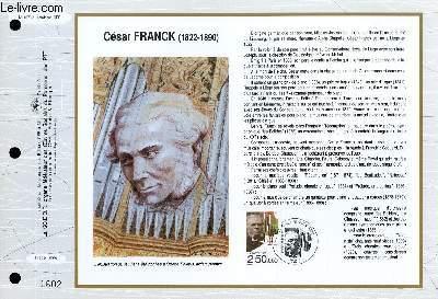 FEUILLET ARTISTIQUE PHILATELIQUE - CEF - N° 1078 - CESAR FRANCK 1822-1890