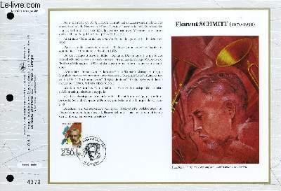 FEUILLET ARTISTIQUE PHILATELIQUE - CEF - N° 1080 - FLORENT SCHMITT (1870-1958)