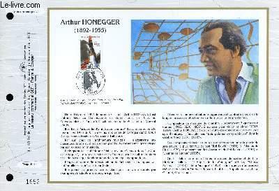 FEUILLET ARTISTIQUE PHILATELIQUE - CEF - N� 1081 - ARTHUR HONEGGER 1892-1955
