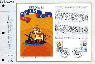 FEUILLET ARTISTIQUE PHILATELIQUE - CEF - N° 1085 - EUROPA 92