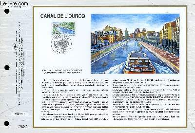 FEUILLET ARTISTIQUE PHILATELIQUE - CEF - N° 1086 - CANAL DE L'OURCQ