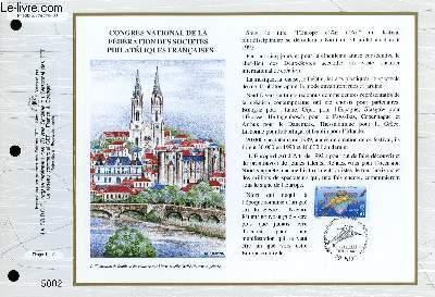 FEUILLET ARTISTIQUE PHILATELIQUE - CEF - N° 1088 - CONGRES NATIONAL DE LA FEDERATION DES SOCIETES PHILATELIQUES FRANCAISES