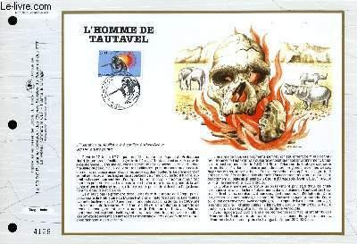 FEUILLET ARTISTIQUE PHILATELIQUE - CEF - N° 1090 - L'HOMME DE TAUTAVEL