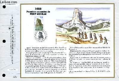 FEUILLET ARTISTIQUE PHILATELIQUE - CEF - N° 1092 - 1492 - PREMIERE ASCENSION DU MONT AIGUILLE