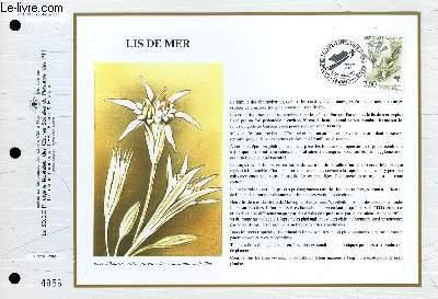 FEUILLET ARTISTIQUE PHILATELIQUE - CEF - N° 1095 - LIS DE MER