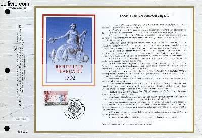 FEUILLET ARTISTIQUE PHILATELIQUE - CEF - N° 1100 - L'AN I DE LA REPUBLIQUE