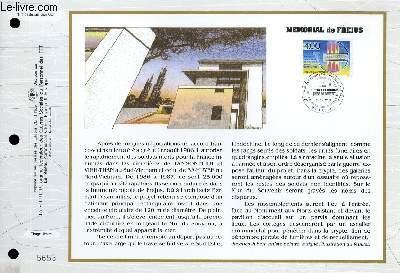 FEUILLET ARTISTIQUE PHILATELIQUE - CEF - N° 1102 - MEMORIAL DE FREJUS