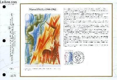 FEUILLET ARTISTIQUE PHILATELIQUE - CEF - N° 1105 - MARCEL PAUL 1900-1982