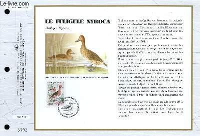 FEUILLET ARTISTIQUE PHILATELIQUE - CEF - N° 1114 - LE FULIGULE NYROCA - ANTHYA NYROCA