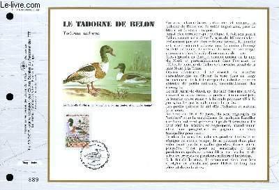 FEUILLET ARTISTIQUE PHILATELIQUE - CEF - N° 1115 - LE TADORNE DE BELON - TADORNA TADORNA