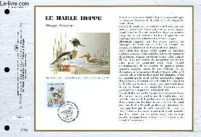 FEUILLET ARTISTIQUE PHILATELIQUE - CEF - N° 1116 - LE HARLE HUPPE -è MERGUS SERRATOR