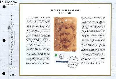 FEUILLET ARTISTIQUE PHILATELIQUE - CEF - N� 1121 - GUY DE MAUPASSANT 1850-1893