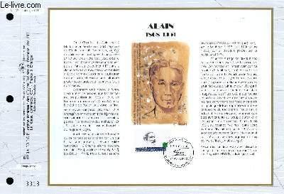 FEUILLET ARTISTIQUE PHILATELIQUE - CEF - N° 1122 - ALAIN 1868-1951