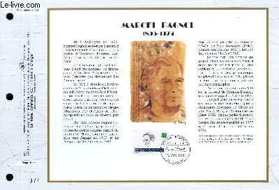 FEUILLET ARTISTIQUE PHILATELIQUE - CEF - N° 1124 - MARCEL PAGNOL 1895-1974