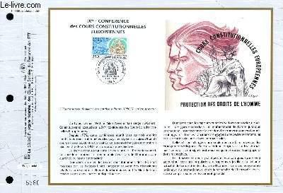 FEUILLET ARTISTIQUE PHILATELIQUE - CEF - N° 1128 - 9° CONFERENCE DES COURS CONSTITUTIONNELLES EUROPEENNES