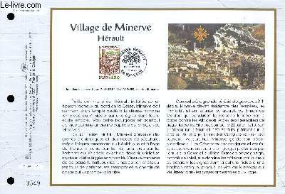 FEUILLET ARTISTIQUE PHILATELIQUE - CEF - N° 1137 - VILLAGE DE MINERVE - HERAULT