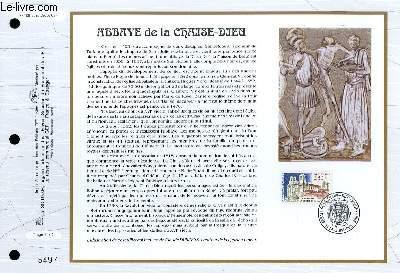 FEUILLET ARTISTIQUE PHILATELIQUE - CEF - N° 1138 - ABBAYS DE LA CHAISE-DIEU