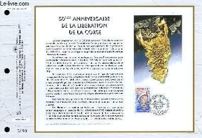 FEUILLET ARTISTIQUE PHILATELIQUE - CEF - N° 1141 - 50° ANNIVERSAIRE DE LA LIBERATION DE LA CORSE