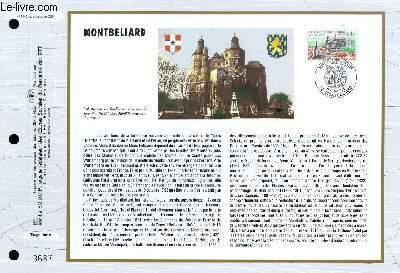 FEUILLET ARTISTIQUE PHILATELIQUE - CEF - N° 1142 - MONTBELLIARD