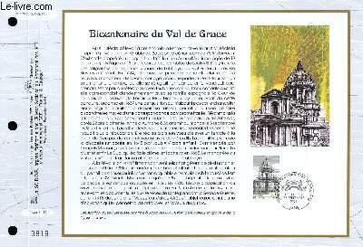 FEUILLET ARTISTIQUE PHILATELIQUE - CEF - N° 1143 - BICENTENAIRE DU VAL DE GRACE