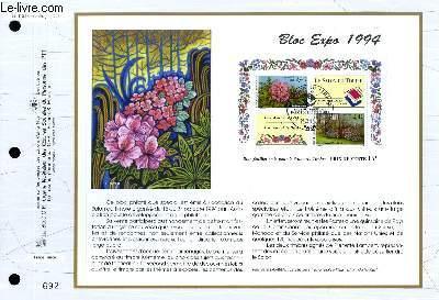 FEUILLET ARTISTIQUE PHILATELIQUE - CEF - N° 1152 - BLOC EXPO 1994