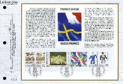 FEUILLET ARTISTIQUE PHILATELIQUE - CEF - N° 1166 - FRANCE-SUEDE - SUEDE-FRANCE