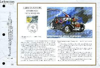 FEUILLET ARTISTIQUE PHILATELIQUE - CEF - N° 1169 - LIBERATION - HOMMAGE AUX MAQUIS