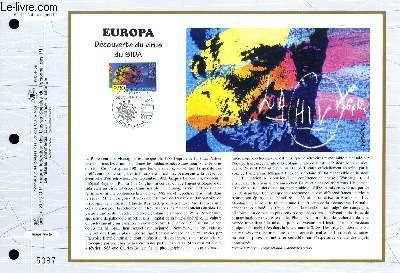 FEUILLET ARTISTIQUE PHILATELIQUE - CEF - N° 1170 - EUROPA - DECOUVERTE DU VIRUS DU SIDA