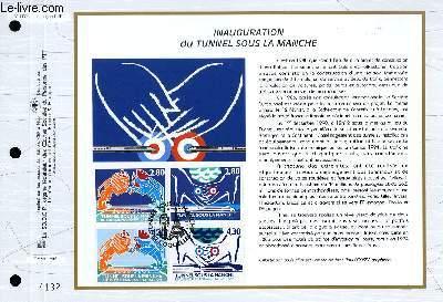 FEUILLET ARTISTIQUE PHILATELIQUE - CEF - N° 1172 - INAUGURATION DU TUNNEL SOUS LA MANCHE