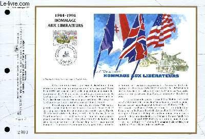 FEUILLET ARTISTIQUE PHILATELIQUE - CEF - N° 1176 - 1944-1994 - HOMMAGE AUX LIBERATEURS