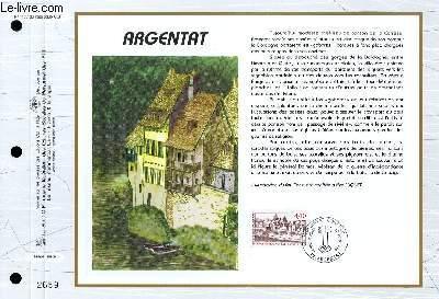 FEUILLET ARTISTIQUE PHILATELIQUE - CEF - N° 1177 - ARGENTAT