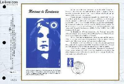 FEUILLET ARTISTIQUE PHILATELIQUE - CEF - N° 1182 - MARIANNE DU BICENTENAIRE
